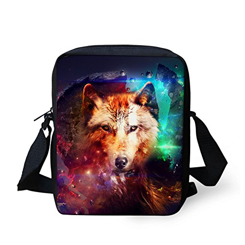 Printed School 3D Wolf Coloranimal Kids 1 Mini Wolf Schoolbag Cool for Bagpack ngSxSwpqR8
