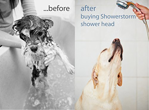Hand Shower Head Handheld Shower-High Pressure With Bracket And Hose For Bathroom 8 Function Luxury Spa Chrome Adjustable Detachable Full Flow Massage Rain Waterfall For The Ultimate Shower Experience by Showerstorm (Image #5)