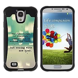 LASTONE PHONE CASE / Suave Silicona Caso Carcasa de Caucho Funda para Samsung Galaxy S4 I9500 / Teal Grey Text Typewriter Grey Poem Sweet
