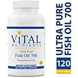 Vital Nutrients - Ultra Pure Fish Oil 700 (Pharmaceutical Grade) - Hi-Potency Deep Sea Fish Oil, Cardiovascular Support with EPA and DHA - 120 Softgels