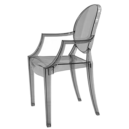 kartell louis ghost chair smoke grey amazon co uk kitchen home