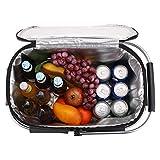 ALLCAMP OUTDOOR GEAR Foldable Picnic Basket Cooler