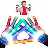 DIMY Boys Gifts, Gifts For Girls 4-8 Years Old, Gifts For Kids LED Flashing Skeleton Gloves G05