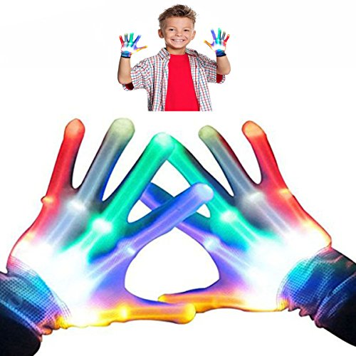 Boys Gifts, DIMY Gifts for Girls 4-8 Years Old, Gifts for Kids LED Flashing Skeleton Gloves G05