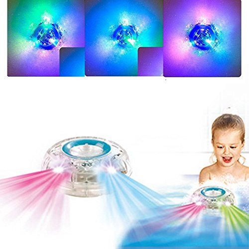 ShineU light up bath toys, Waterproof Bathroom LED Light Toys, Bathroom Shower Time Colorful Changing tub toys for toddlers babies Kids Children Adult at Party, Bathtub, Bar, Swimming Pool (2 pack)