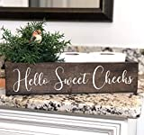 Hello Sweet Cheeks Toilet Holder Box - Funny Toilet Paper Holder - Toilet Paper Holder - Toilet Paper Box - Back of Toilet - Bathroom Box Sign
