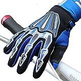 outdoor sport gloves/ bike gloves/[Cycling gloves]/ long finger glove-blue M