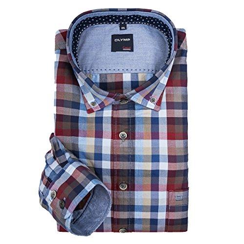 Camicia manica lunga blu/rosso quadri Olymp XXL