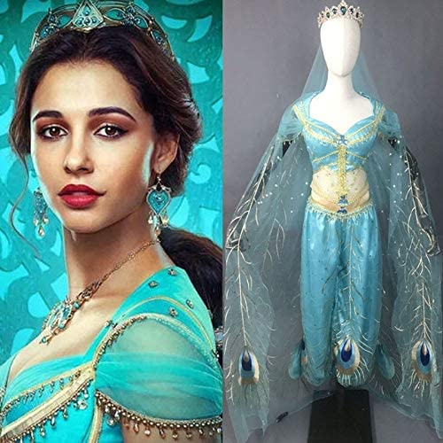 Custom Made 2019 Movie Aladdin Jasmine Princess Embroidery Cosplay ...
