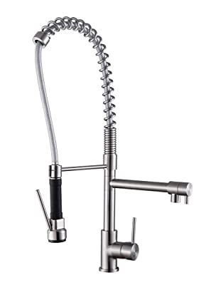 Ruvati RVF1290ST Pre-Rinse Commercial Style Kitchen Faucet