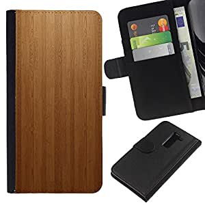 Ihec-Tech / Flip PU Cuero Cover Case para LG G2 D800 D802 D802TA D803 VS980 LS980 - Wood panel Texture Patern