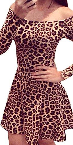 Del Partito Modo Manica Di Leopardo Del Di Donna 2015 l Lunga Collager Nuovo Vestito tq1wPxZYE