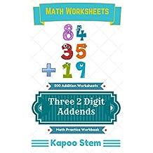 500 Addition Worksheets with Three 2-Digit Addends: Math Practice Workbook (500 Days Math Addition Series 7)