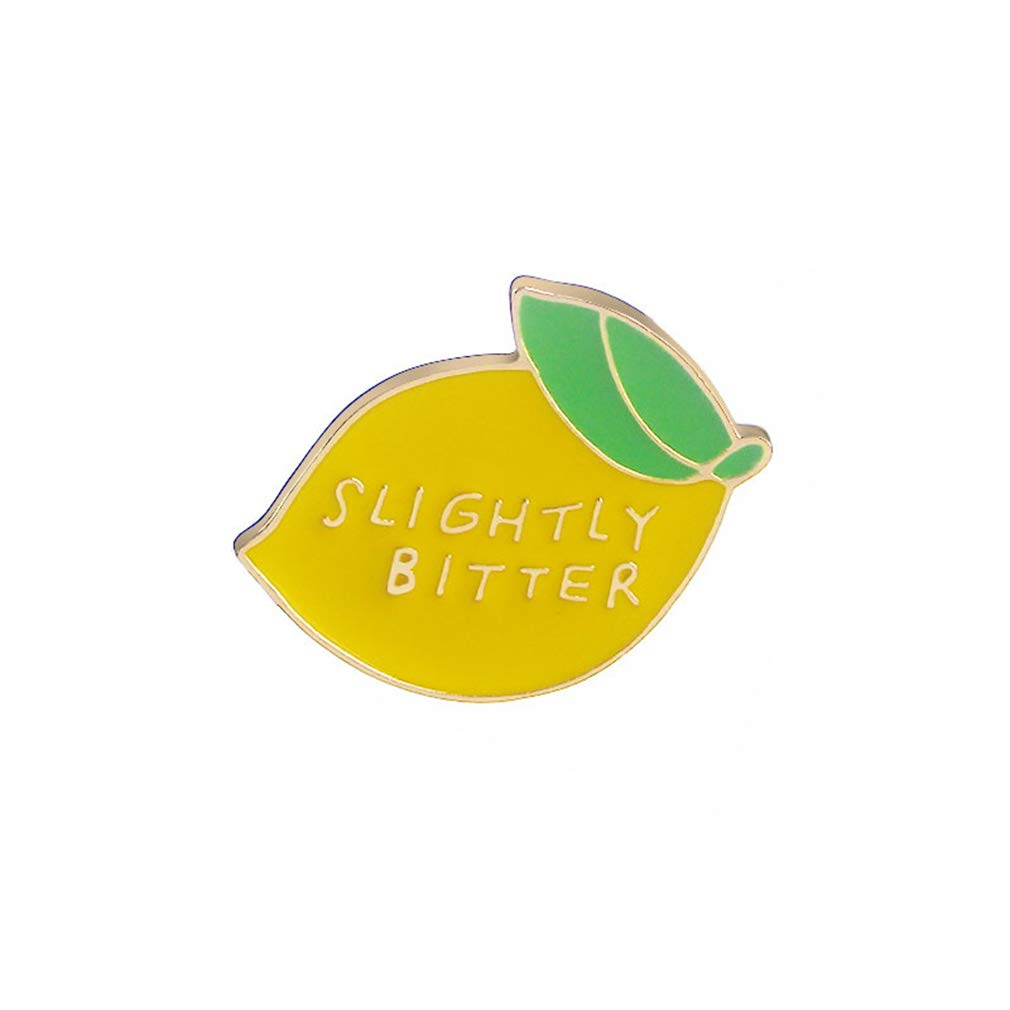 GloryMM Slightly Bitter Lemon Enamel Pin, Summer Style Funny Pins Brooch Gift for Her - Birthday Gift