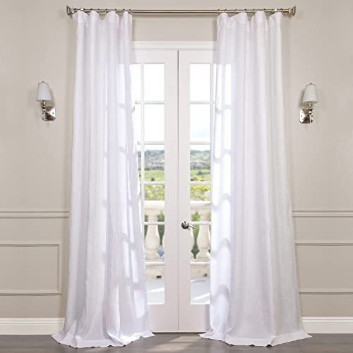 HPD Half Price Drapes SHLNCH-GB1001031-120 Signature French Linen Sheer Curtain 1 Panel