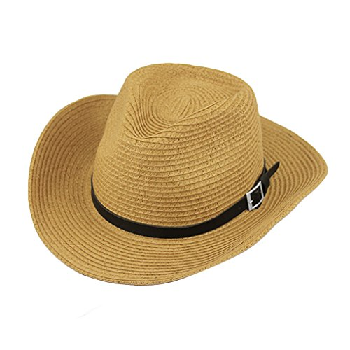 Classic Women's Men's Unisex Crushable Pannama Hat Foldable Packable Summer Straw Gangster Cowboy Fedora Cap Beach Sun Hat with String Wide Brim UPF 50+ Bucket Outdoor Fishing Hunting Hats]()