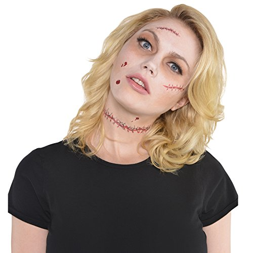 amscan Stitches Tattoos (Halloween Costume Chucky)