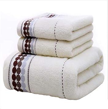 Tres Piezas (1 Toallas de baño + 2 Toallas) Material de algodón Buena absorción