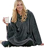 The Lakeside Collection Cozy Poncho - Gray