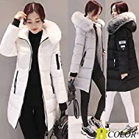 The Newest Women Fashion Winter Long Fur Hooded Down Cotton Cotton-Padded Jacket Warm Puffer Coats Jackets Warm Parkas
