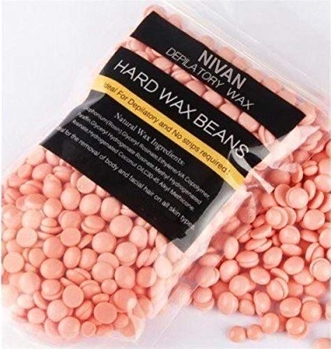 NIVAN Painless & Stripless Hair Removal Wax Beans for Women and Men (PINK) (50 GM)