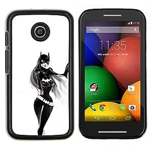 /Skull Market/ - Sexy Bat Girl For Motorola Moto E (1st Gen, 2014) - Mano cubierta de la caja pintada de encargo de lujo -