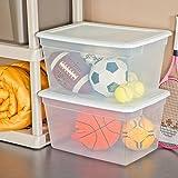 Sterilite 58 Quart Storage Box- White, Case of 8