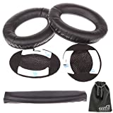 EEEKit Replacement Pair Foam Ear Pads Cushions and Headband for Bose Quietcomfort 2 QC2/15 QC15/25 QC25/Ae2/Ae2i/Ae2w,Replace Solution Kit