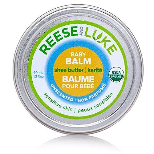 Reese and Luke's - Shea Butter Baby Balm, 1.3 fl oz, Unscented -- Diaper Cream - Natural Certified Organic 627843228905