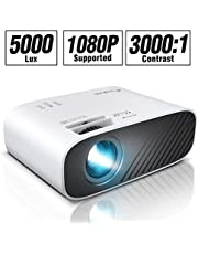 "ELEPHAS Mini Movie Projector, with 4500 LUX Brightness and 50, 000 Hours of Lamp Life, Supports Full HD 1080P and 200"" Display, Compatible with USB/TF Card/HDMI/VGA/Laptop/Phone"