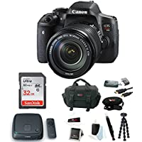 Canon EOS Rebel T6i DSLR Camera with EF-S 18-135mm IS STM Kit + Connect Station & 32GB Memory Card with Accessory Bundle