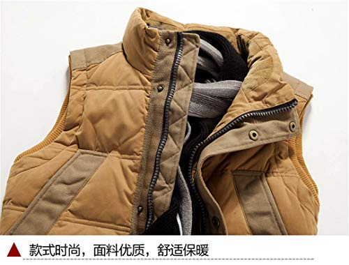 Vests Collar Winter Sleeveless Stand Casual Jacket Autumn Blue Down Down and Men's xBqFZnCc