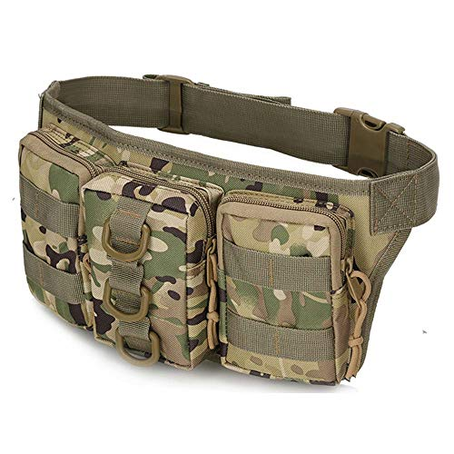 - Camo Fanny Pack for Men&Women, Mens Waist Pack with 3 Zipper Pockets & Hanging Loops, Small Tactical Waist Bags for Men