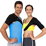 Shoulder Brace Rotator Cuff Support – Reduce Pain with Compression to Help Stiff, Injured AC Joints, Labrum Tears, Muscle Strains or Sprains, Tendonitis and Even Dislocated Shoulders (Fits Most)