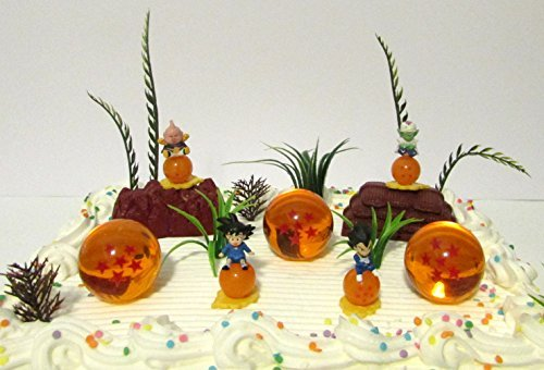 Dragon Ball Z Birthday Cake Topper Set Featuring Characters And Themed Decorative Accessories