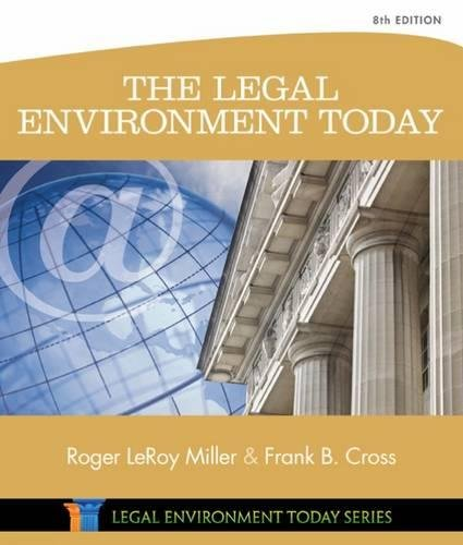 The Legal Environment Today (Miller Business Law Today Family) Image