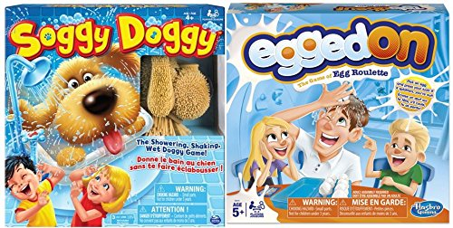 Egged On and Soggy Doggy Board Game Bundle for Kids and Families