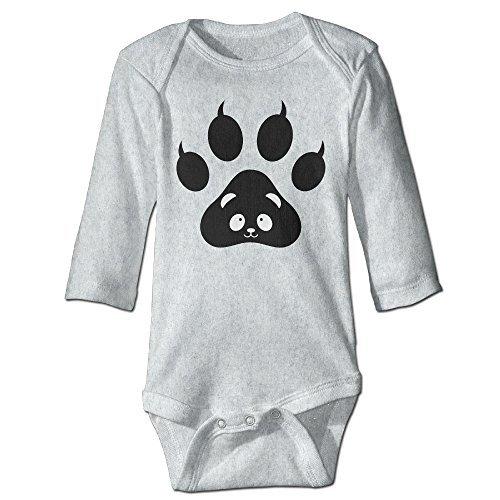 Into The Woods Johnny Depp Costume (Alexx Panda Paw Face Infant Jumpsuit Bodysuit Long-sleeve Romper Ash 24 Months)