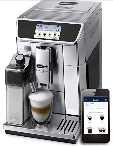 Delonghi ECAM 65075MS Prima Donna Elite Professional Programmable Coffee Machine with Chocolate Function, Silver