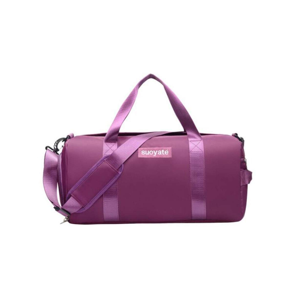 Purple Gaoxingbianlidian Sports Bag, One Shoulder Yoga Bag, Portable Sports Training Bag, Wet and Dry Separation Swimming Bag, Large Capacity Gym Bag, Purple Size  46  20  30cm Affordable