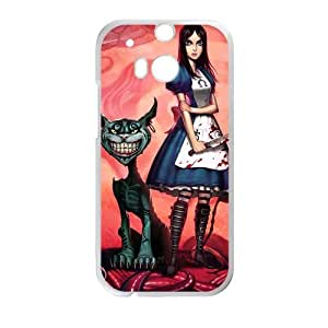 Smile Cat and Women With Knif White HTC M8 case