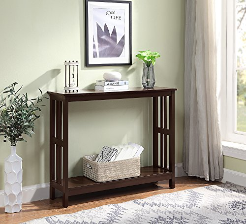 Convenience Concepts 203399ES Mission Console Table, Espresso - Mission Style Console Table