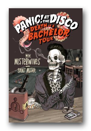 Amazon panic at the disco poster 2017 death of a bachelor panic at the disco poster 2017 death of a bachelor tour admat m4hsunfo
