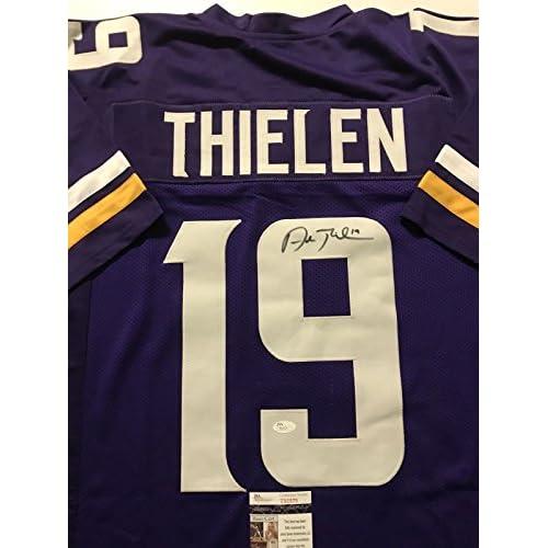 half off 131af 329f3 Autographed/Signed Adam Thielen Minnesota Vikings Purple ...