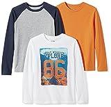 #6: Spotted Zebra Boys' 3-Pack Long Sleeve T-Shirt