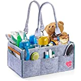 Baby Diaper Caddy Organizer - Portable Changing Table Organizer - Newborn Registry Must Have