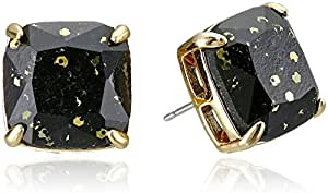 kate spade new york Small Square Black Stud Earrings