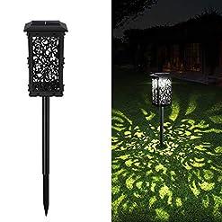Garden and Outdoor Solar Lights Outdoor, GRDE Newest 20 lumens Super Bright Solar Pathway Garden Lights Longer Working Time IP65 Waterproof… outdoor lighting