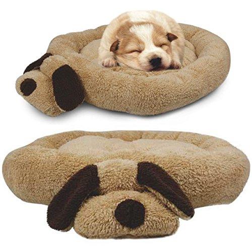 Me & My Pets Kopf und Rute - Luxus-Haustierbett mit Softfleece - Braun/Beige