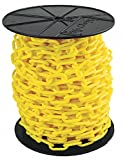 Plastic Chain, 2In x 125 ft, Yellow
